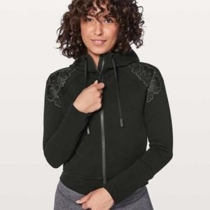 Lululemon Embroidered to You Floral Black Hoody 8